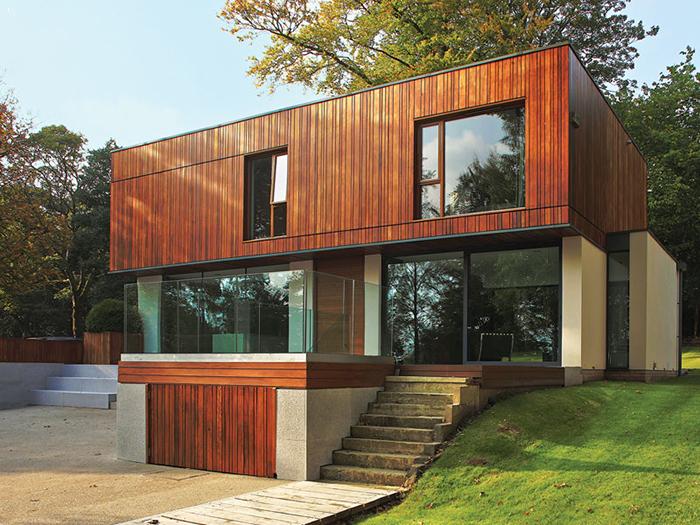 Mẫu nhà thép dân dụng hình hộp kết hợp độc đáo cùng gỗ tạo dấu ấn riêng cho căn nhà của bạn