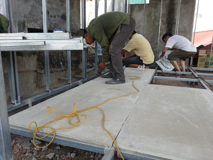 Sàn panel này chủ yếu ứng dụng làm vật liệu cách nhiệt, làm tường ngăn, tường bao, mái