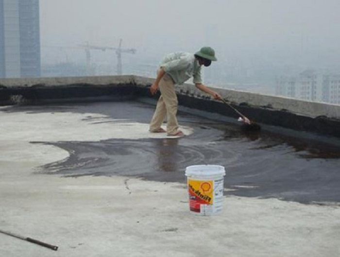 Chống thấm dột trần bê tông bằng chất chống thấm