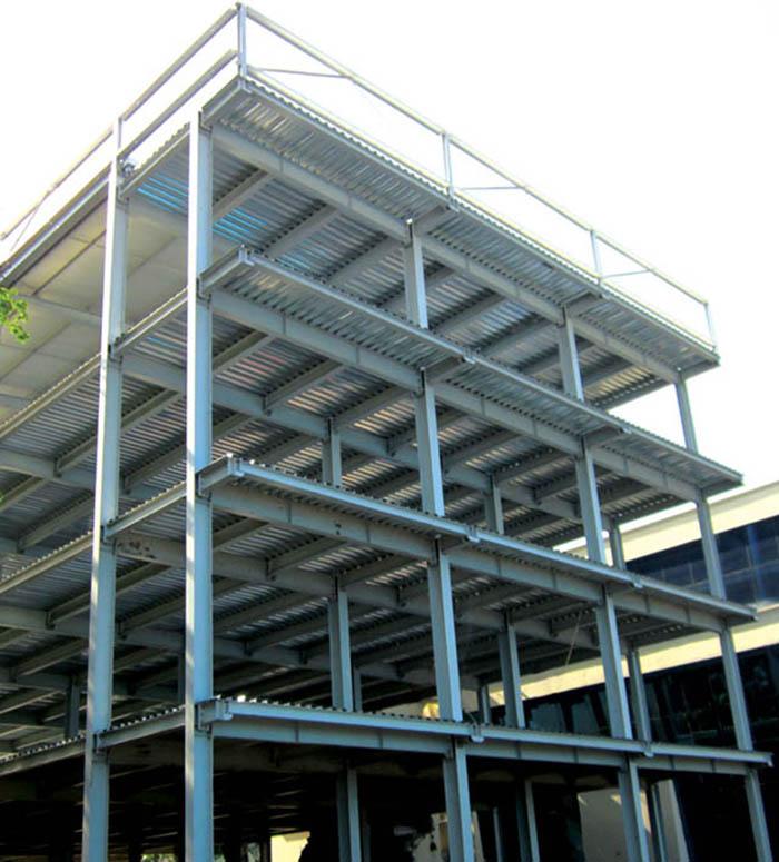 Đây là mẫu nhà khung thép 3 tầng được thiết kế cho việc làm nhà xưởng