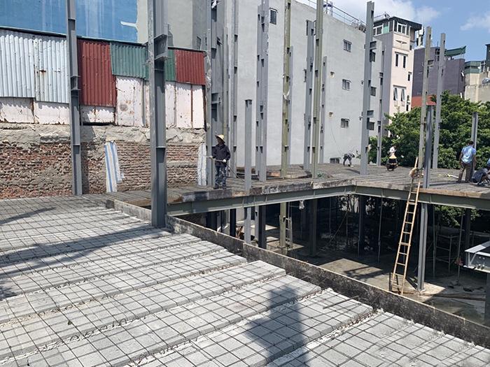 Công trình dùng sàn bê tông nhẹ để cải tạo nhà