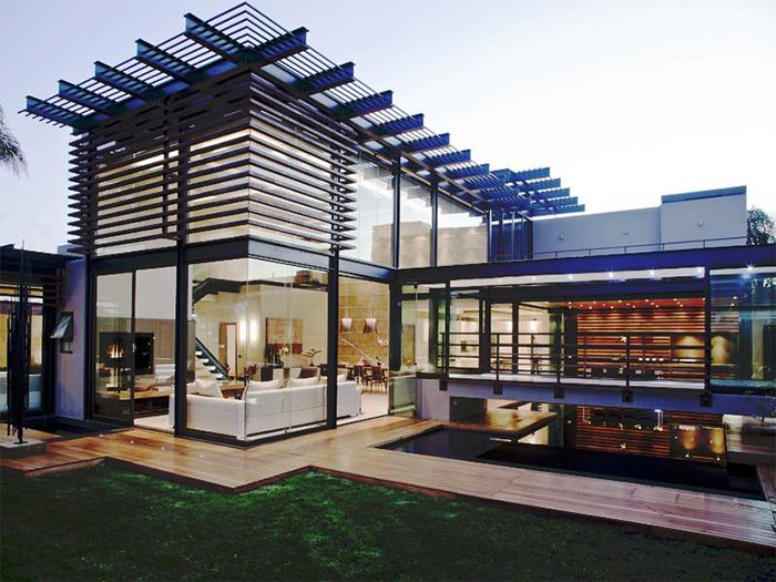 Các mẫu nhà khung thép 2 tầng vạn người mê